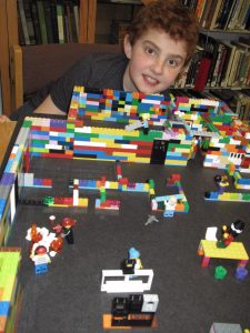 Lego Club's scale model of our New Library Building.