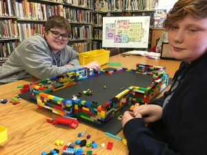 Lego Club making progress on the New Building scale model.