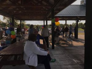 Music and visiting with neighbors at the Community Ice Cream Social Aug. 25.