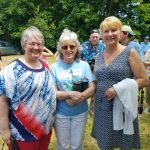 Library Director Deb Flint and her mom were among those who braved the heat!
